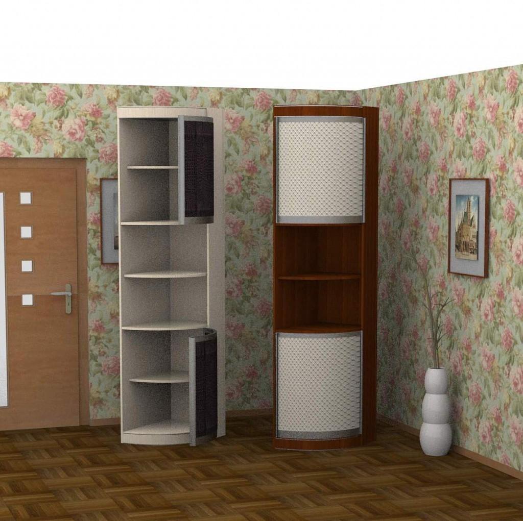 Распашной шкаф угловой ассиметричный премиум