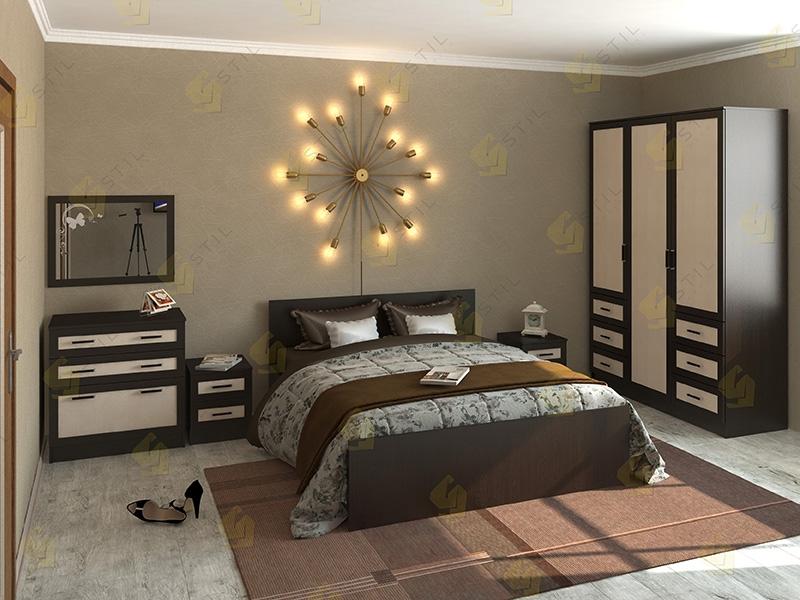 Недорогая спальня Валерия 4М