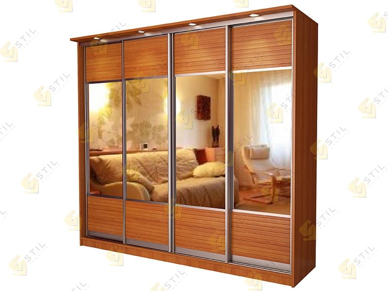 4 х дверный шкаф купе Версаль 4 в спальню