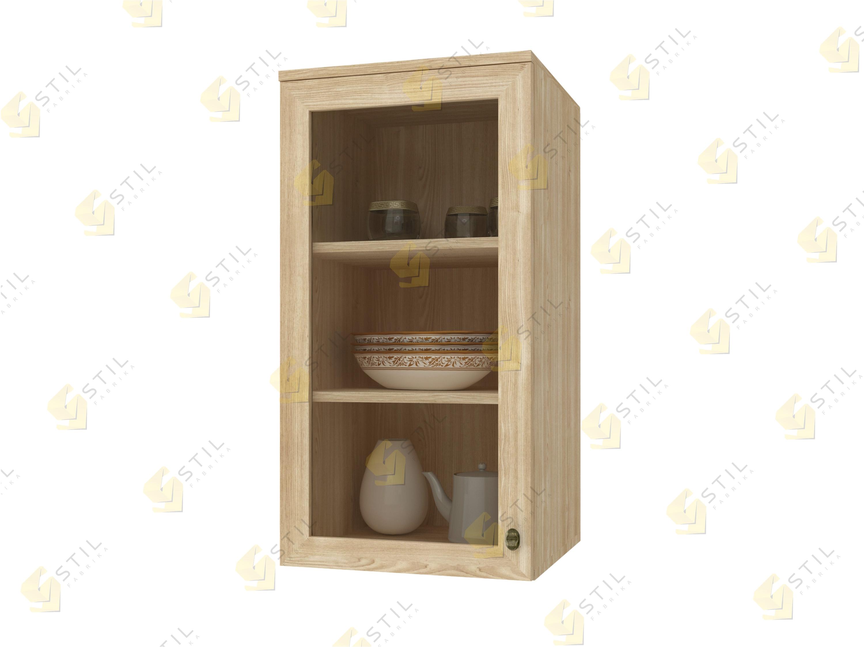 Навесной шкаф со стеклянными фасадами Витраж 1С