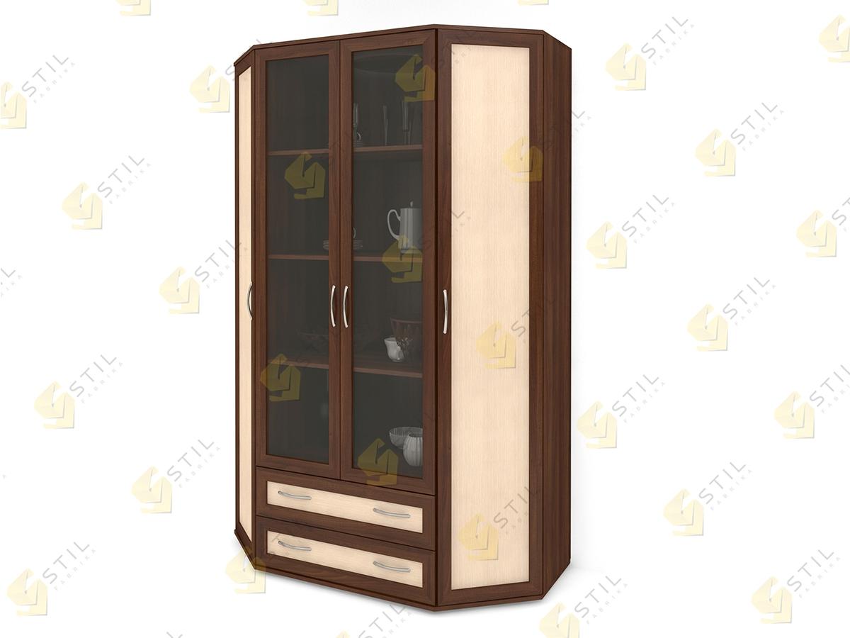 Распашной эркерный шкаф Э-1МС