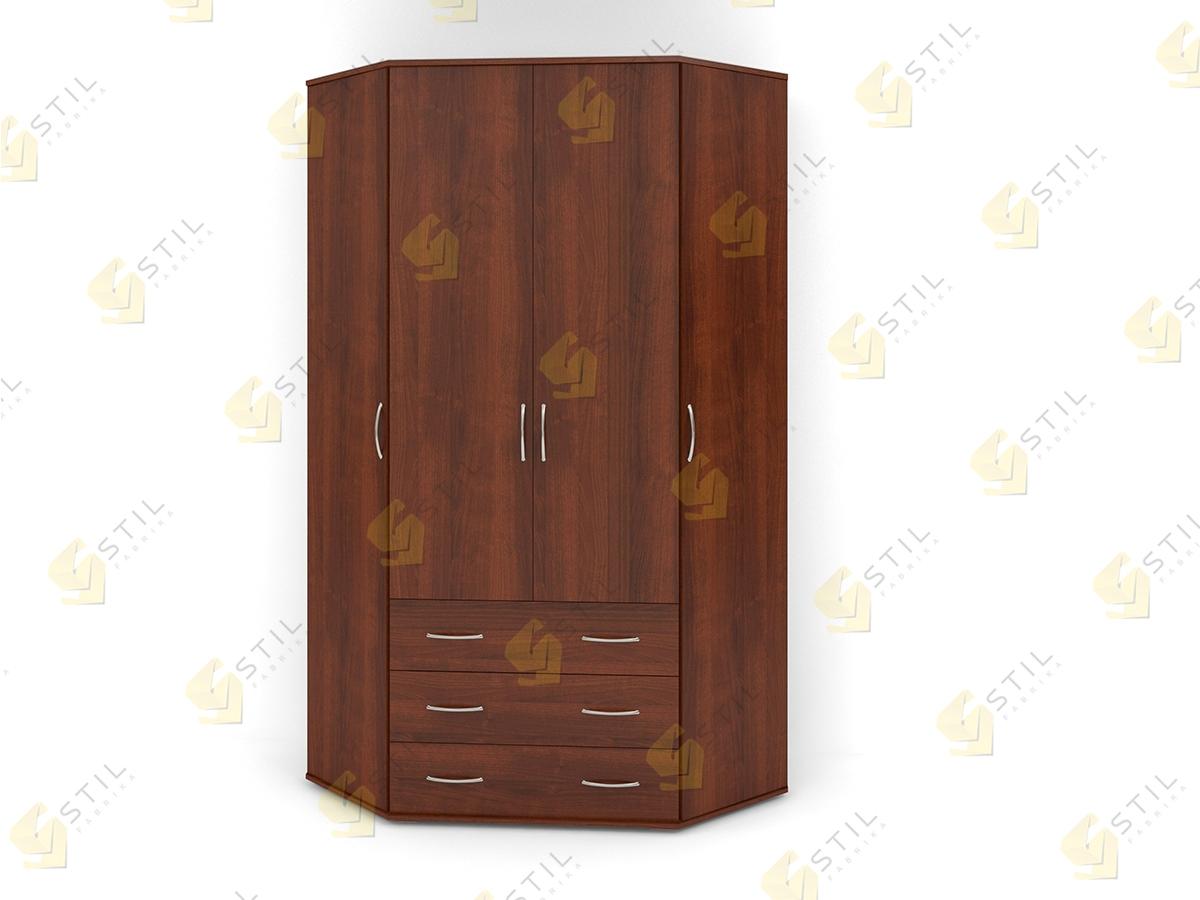 Распашной эркерный шкаф Э-2Л