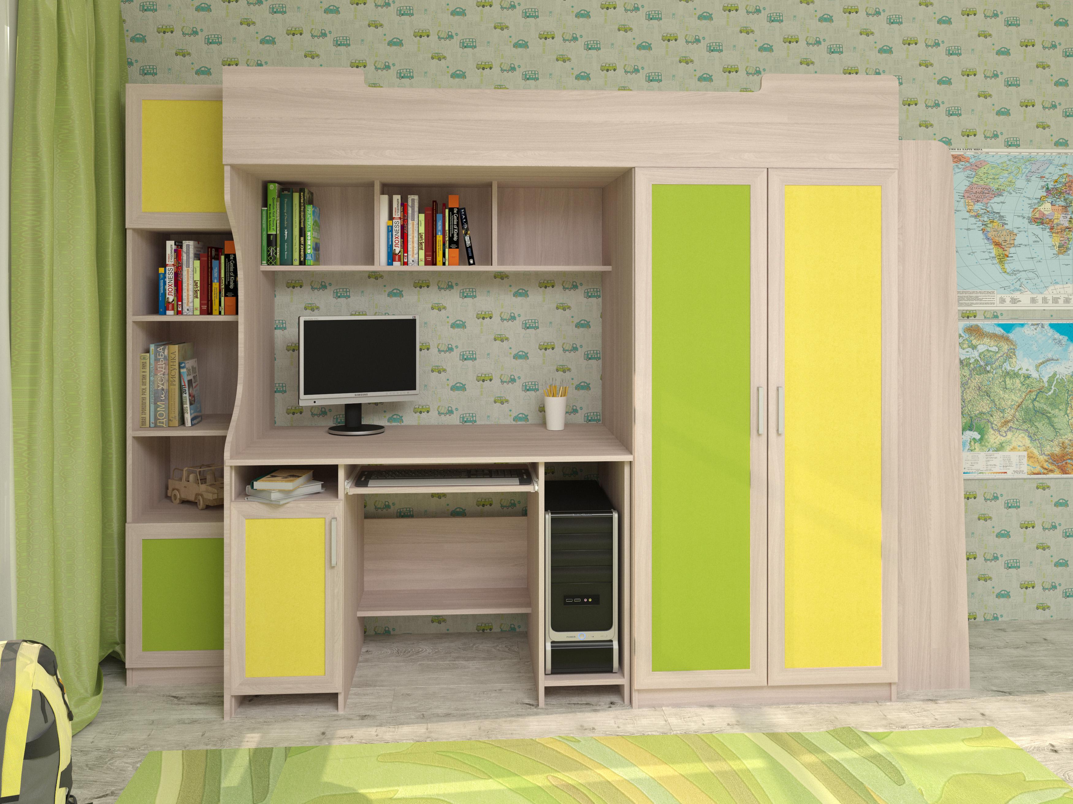 Недорогая мебель в детскую с кроватью Карлсон