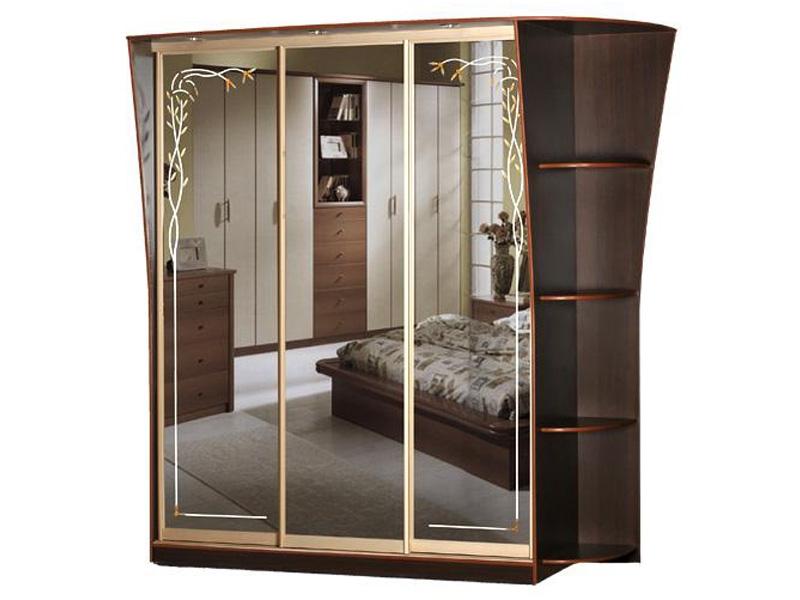 Недорогой трехдверный шкаф-купе с зеркалами Концепт-16