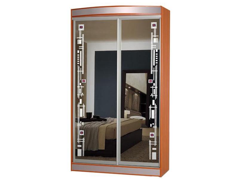 Недорогой двухдверный шкаф-купе с зеркалами Концепт-7