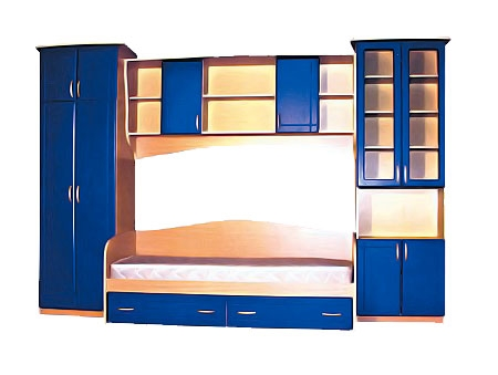 Недорогая мебель для детской с кроватью Егорка
