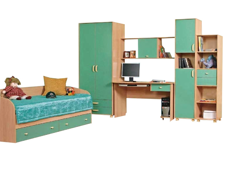 Набор мебели в детскую с кроватью Лагуна