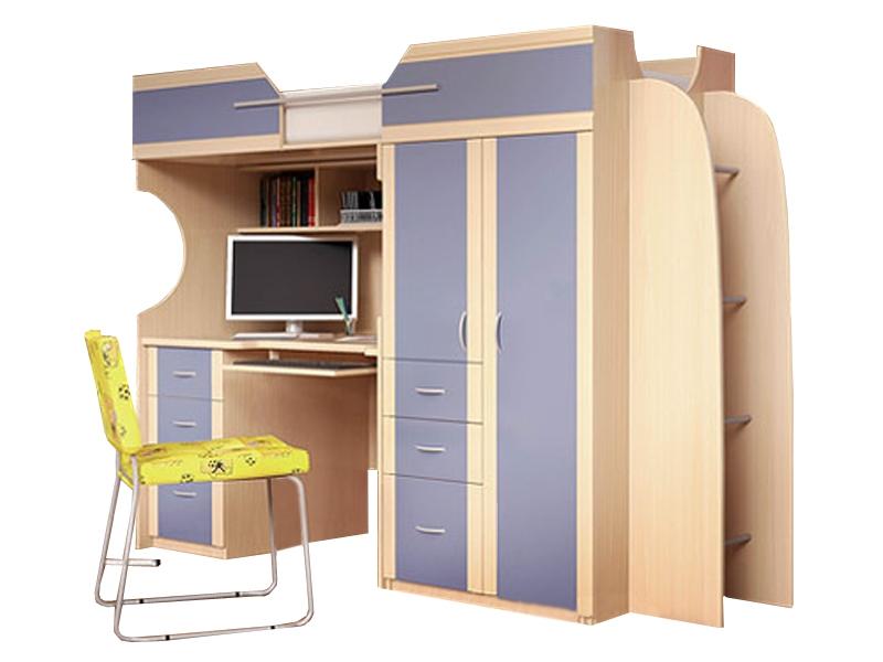 Недорогая мебель в детскую с кроватью Мега