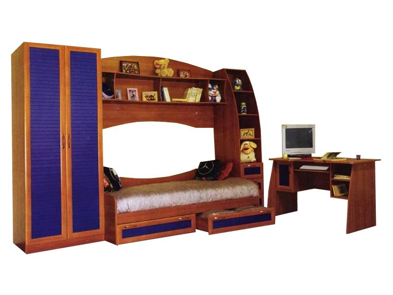 Большой набор мебели в детскую Радуга