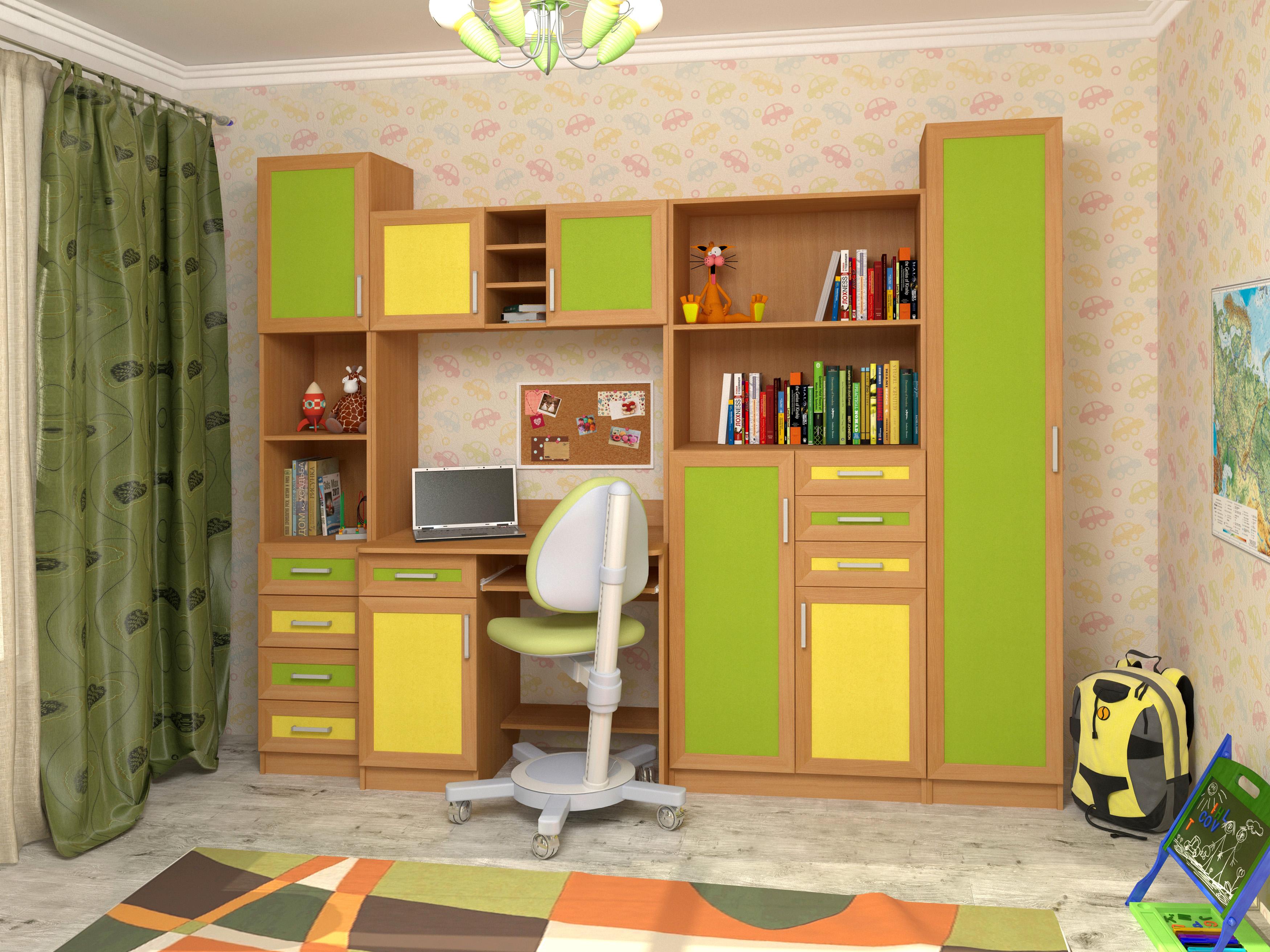 Недорогая мебель в детскую для мальчика Том и Джерри-3