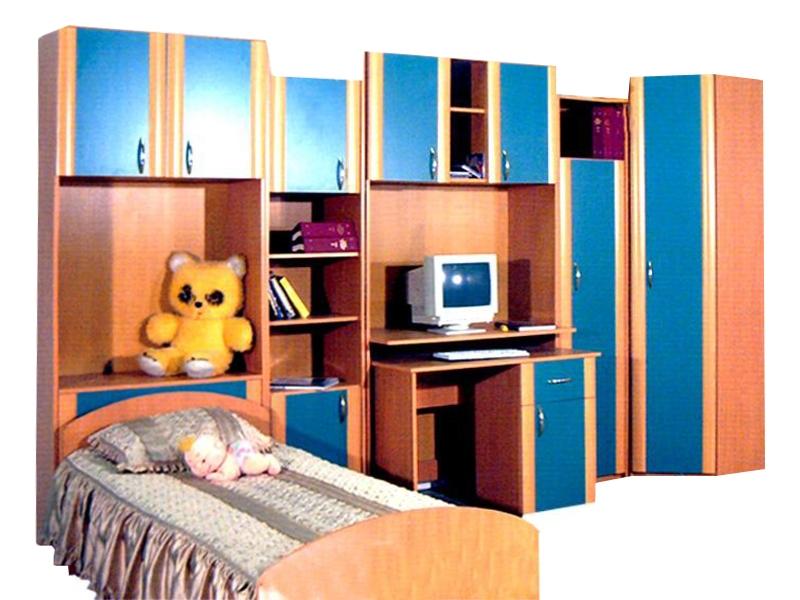 Большой набор мебели с кроватью для детской Ванюша-1А