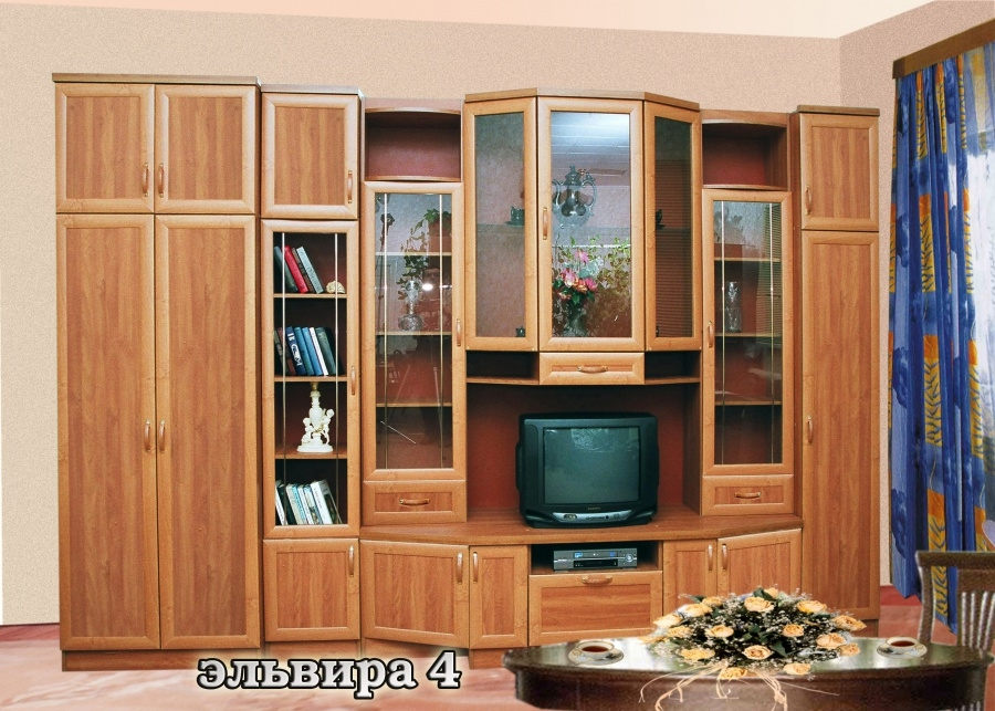 Классическая мебельная стенка Эльвира-4