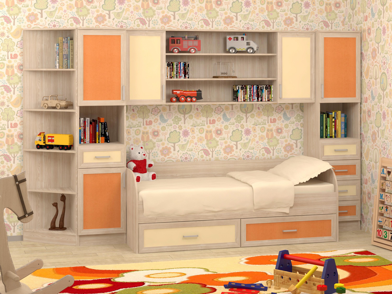 Недорогая мебель в комнату для девочки Гном