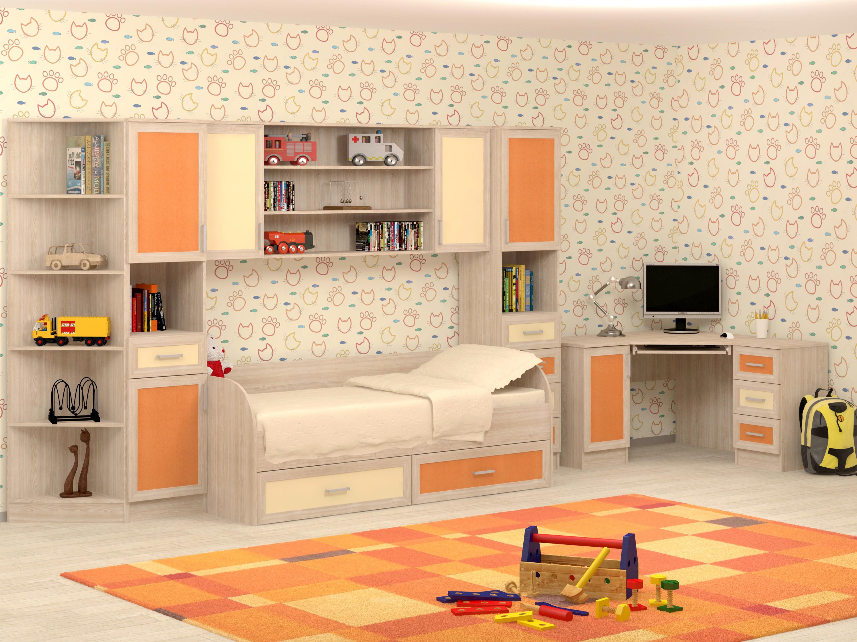 Большой набор мебели в детскую Гном-2