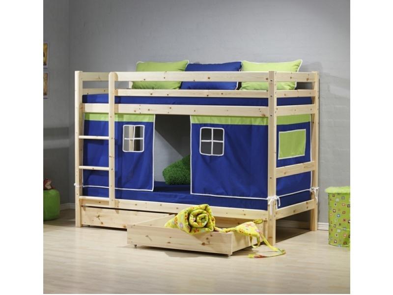 Кровать из массива двухъярусная игровая N1