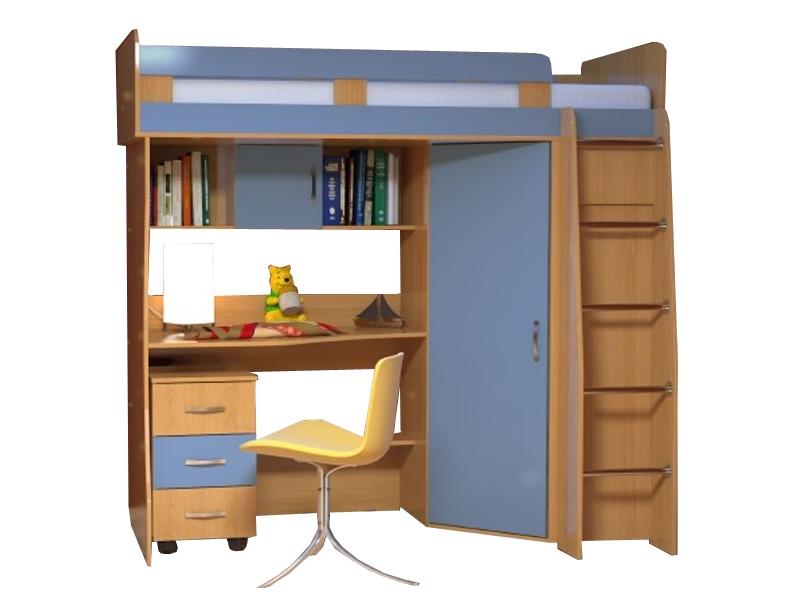 Недорогая мебель в детскую с кроватью Малыш-1