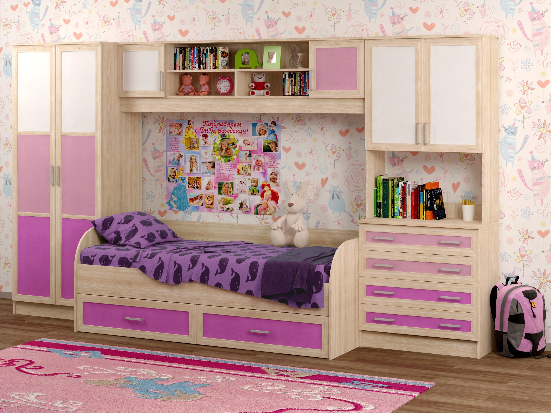 Недорогая детская мебель с кроватью Белоснежка-5