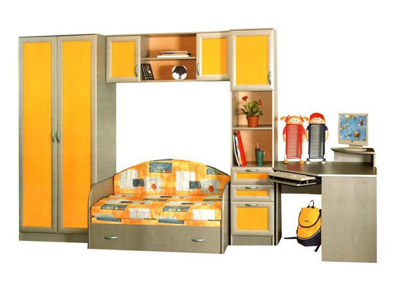 Недорогая подростковая мебель Белоснежка-2 с диваном