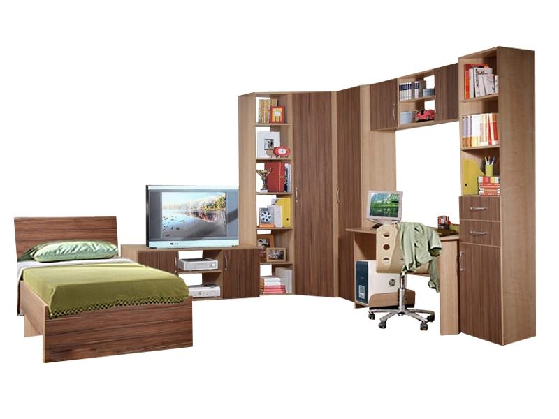 Большой набор мебели в детскую с кроватью Спринт-10