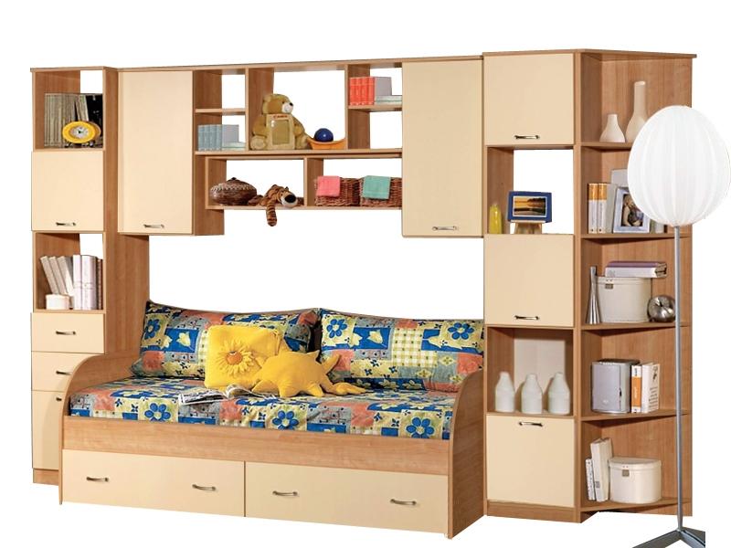 Недорогая мебель с кроватью в детскую Спринт-2