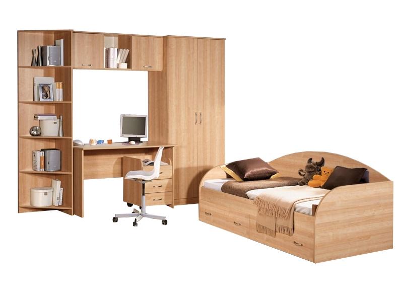 Недорогая мебель с кроватью в детскую Спринт-3