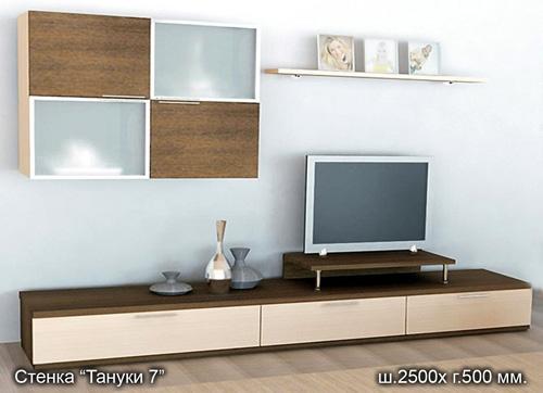 Современная модульная стенка для гостиной Тануки-7