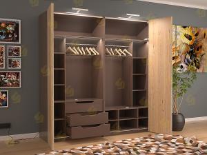 Распашной шкаф Даллас Трюфель БВ