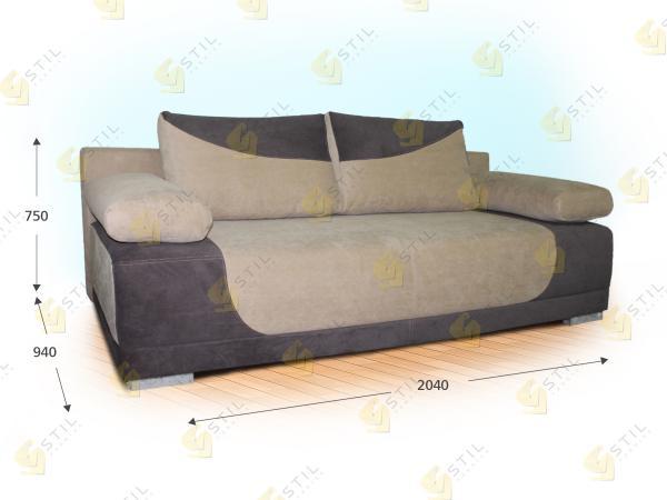 Прямой диван Аморозо
