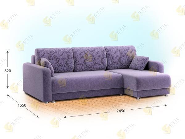 Прямой диван Баини