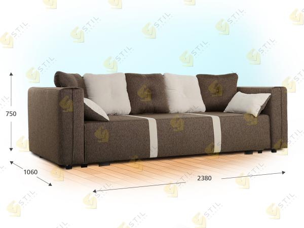 Прямой диван Бекар