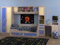 Набор мебели в детскую Белоснежка-2 Космос