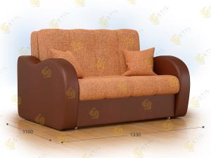Прямой диван Болли 130