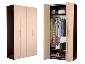 Шкаф гармошка Дегар Ч1 со складными дверями
