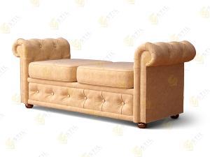 Прямой диван Кушетка Честер Текстайл М1