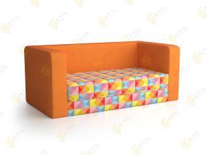 Прямой диван Мармелад оранжевый