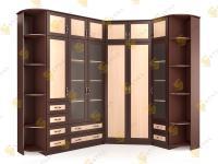 Угловой шкаф в спальню НКМ-3