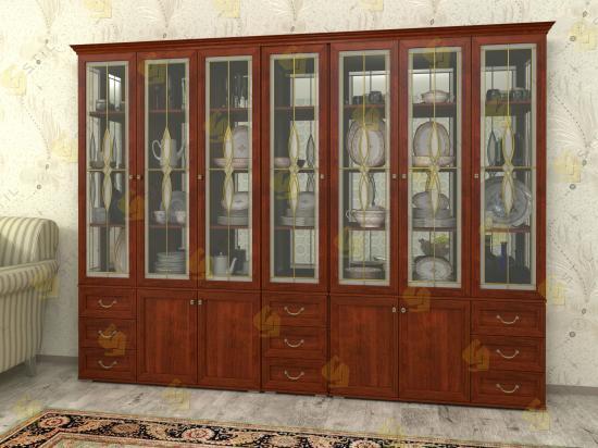 Шкаф витрина Набор Витраж 14В для посуды