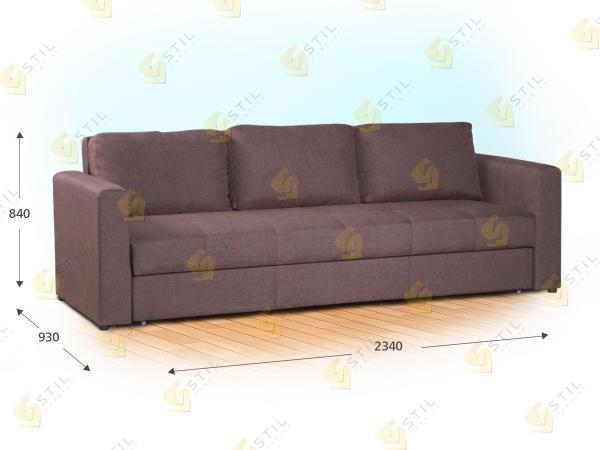 Прямой диван Рубато