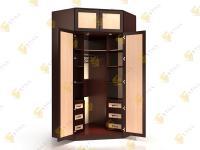 Угловой шкаф в спальню Стиль У-13м