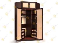 Угловой шкаф в спальню Стиль У-14м