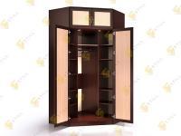 Угловой шкаф в спальню Стиль У-16м