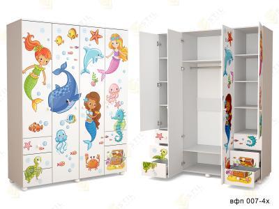 Распашной шкаф в детскую ТинАрт Ч-3 007
