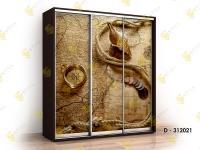 шкаф-купе с фотопечатью Титан Ф-D312021